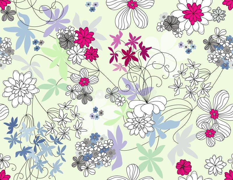 Vector bloemen naadloos patroon vector illustratie