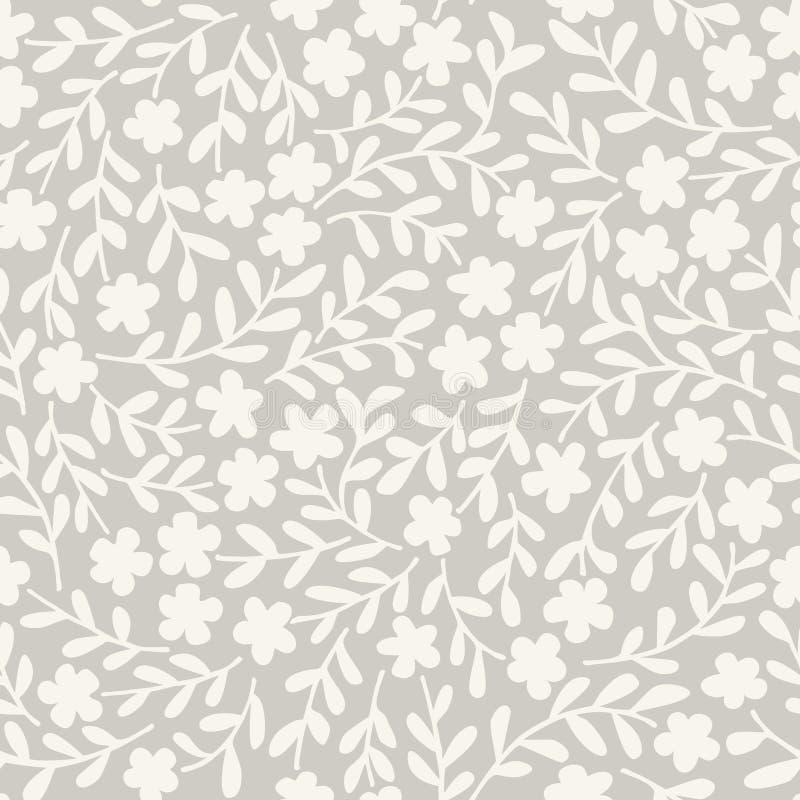 Vector bloemen naadloze achtergrond, vector illustratie