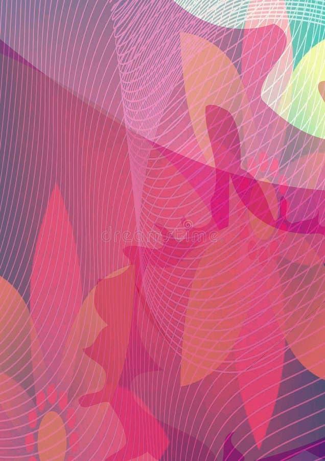 Vector Bloemen vrij roze banner stock illustratie
