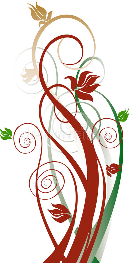 Vector bloemenachtergrond vector illustratie