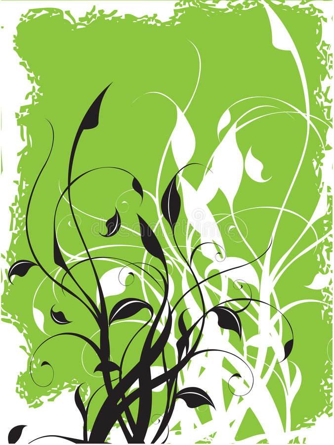 Vector bloemenachtergrond stock illustratie