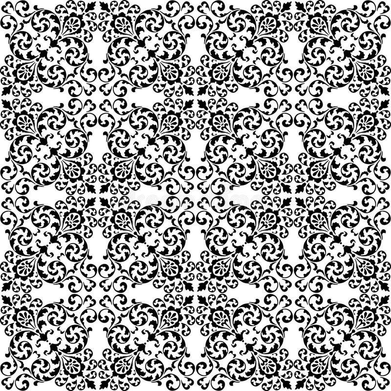Vector bloemenachtergrond van decoratieve uitstekende elementen royalty-vrije illustratie