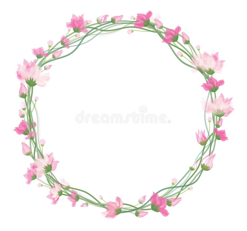 Vector bloemencirkelkader vector illustratie