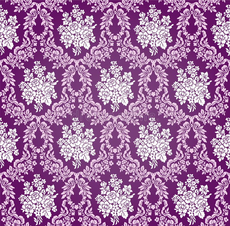 Vector Bloemendamastpatroon Als achtergrond vector illustratie