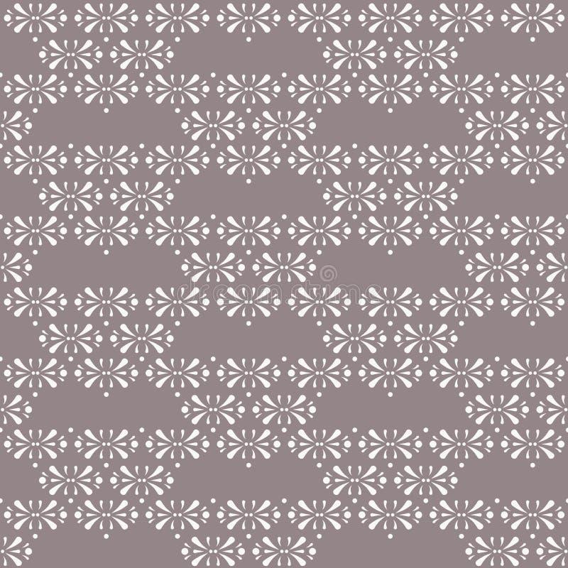 Vector Bloemendriehoeken op achtergrond van het Cacao de Bruine naadloze patroon vector illustratie