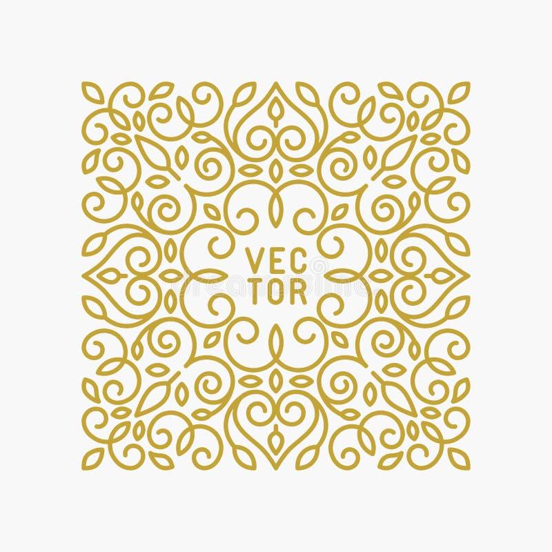 Vector bloemenkader met exemplaarruimte vector illustratie