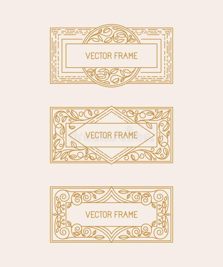 Vector bloemenkaders stock illustratie
