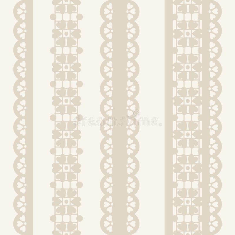 Vector Bloemenkant uitstekend rustiek naadloos patroon vector illustratie