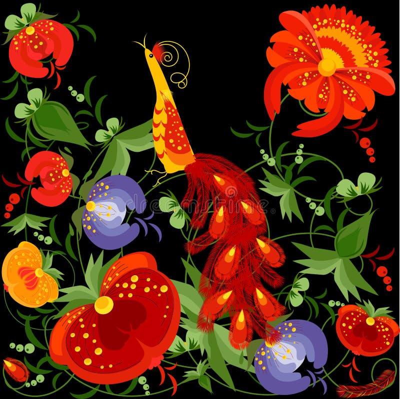 Vector bloemenornament vector illustratie