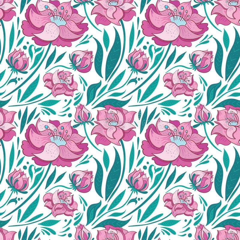 Vector bloemenpatroon stock illustratie