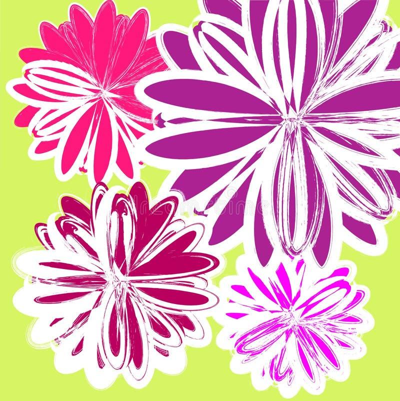 Vector bloemenpatroon royalty-vrije stock afbeeldingen