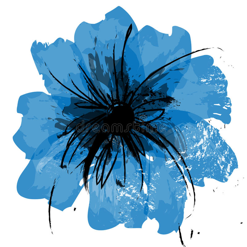 De bloemcanvas van de illustratie stock illustratie