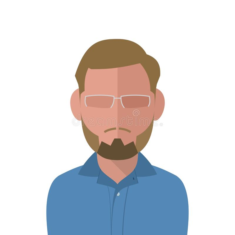 Vector blonde man in a blue shirt royalty free stock photo