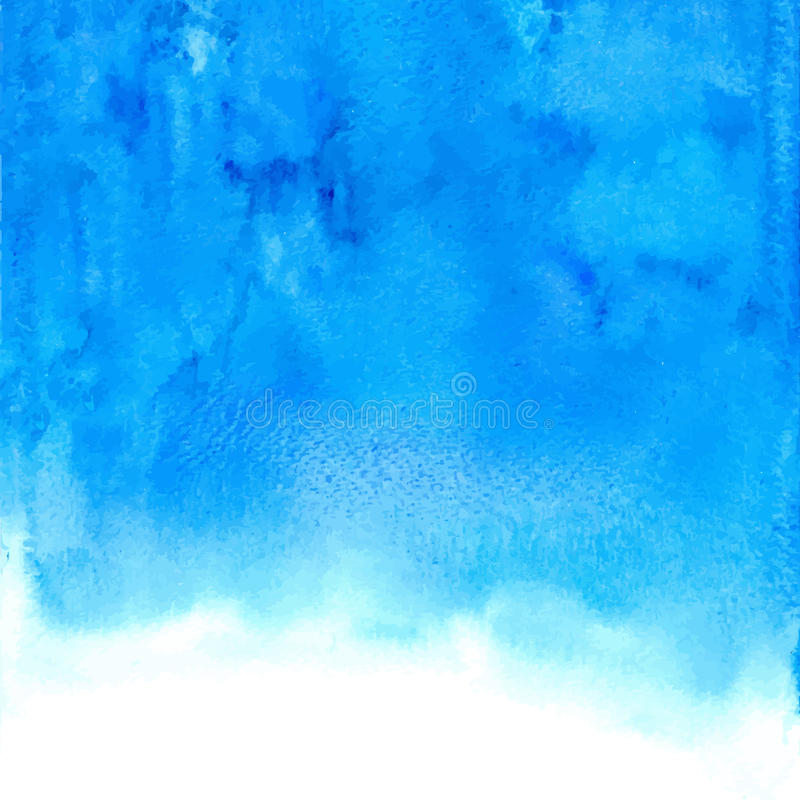 Vector blue abstract hand drawn watercolor background royalty free stock photo
