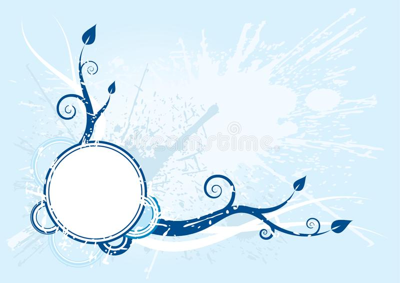 Vector blue background royalty free stock image