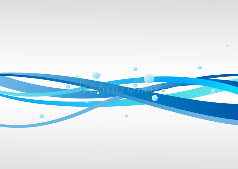 Vector blue background with waves vector illustration