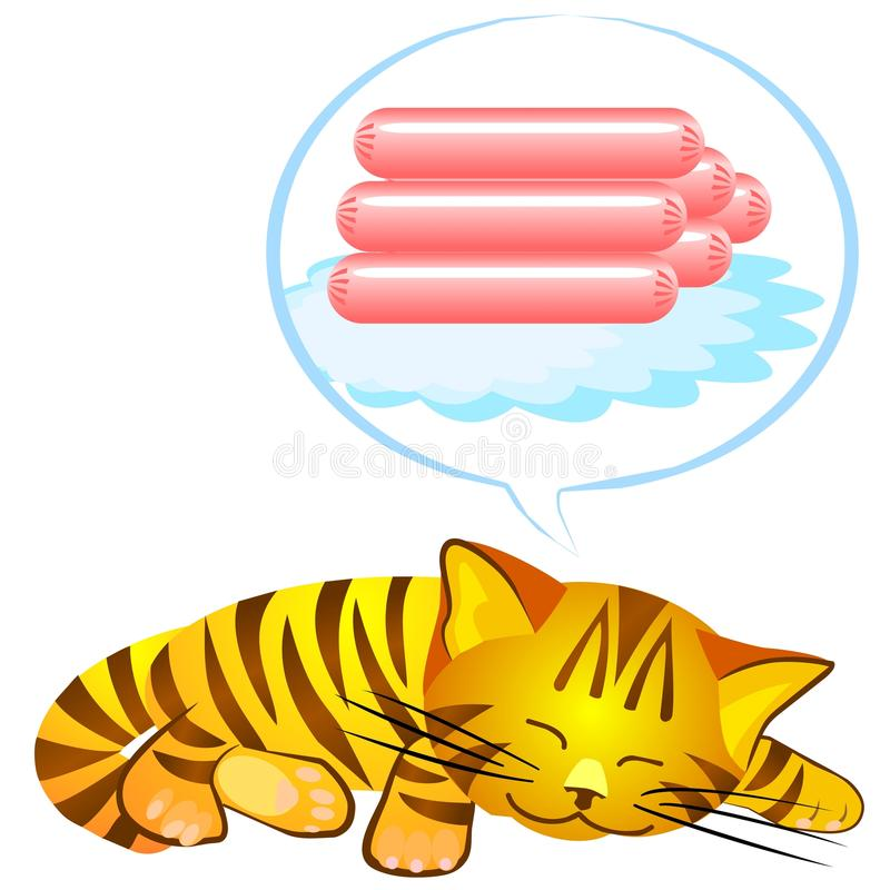 Vector blue cat's dream stock images