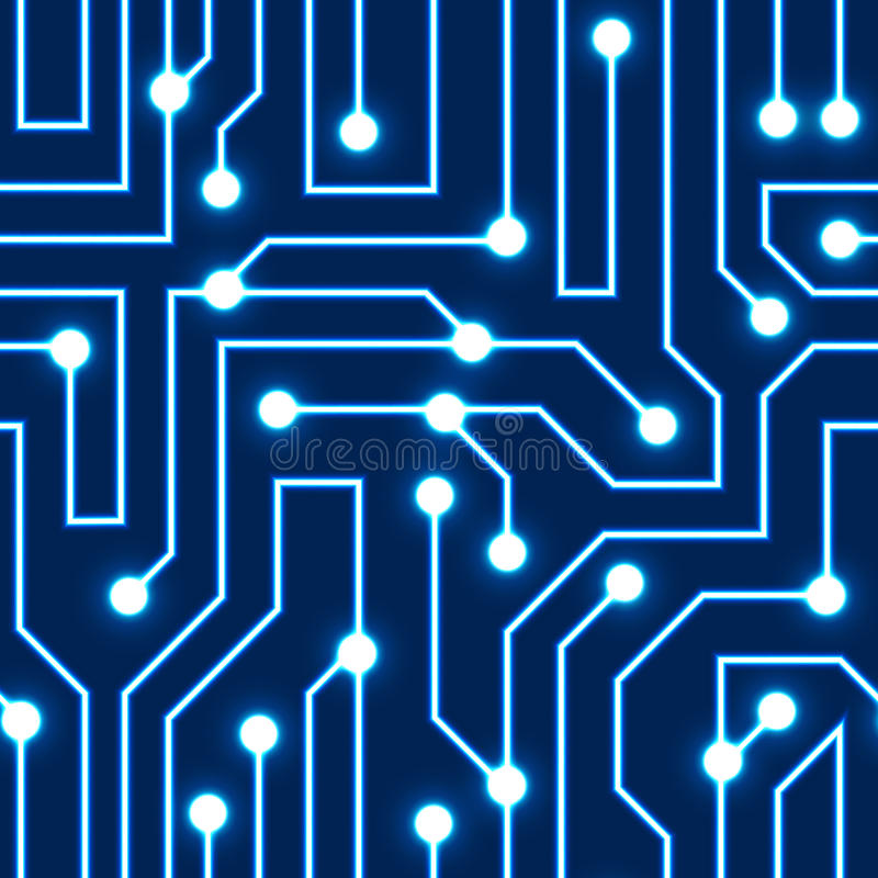 Vector blue circuit board background royalty free illustration
