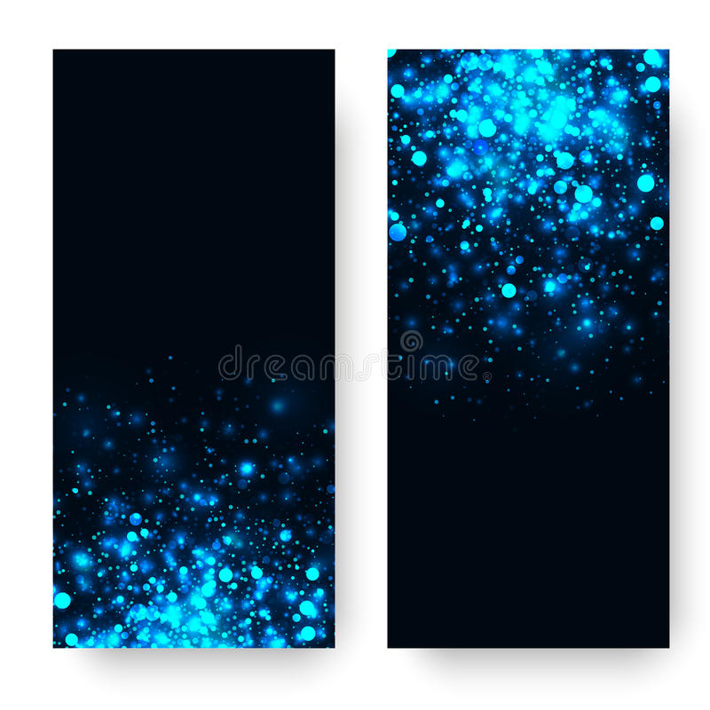 Vector blue glowing light glitter background. Magic glow light effect. Star burst with sparkles on dark background vector illustration