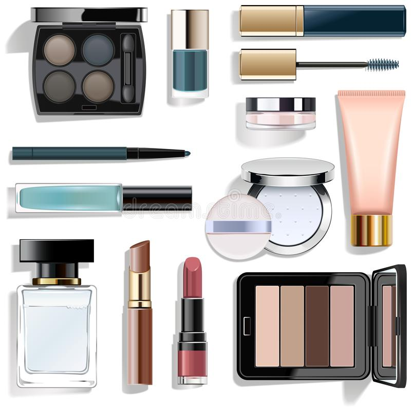 Vector Blue Makeup Collection royalty free stock image