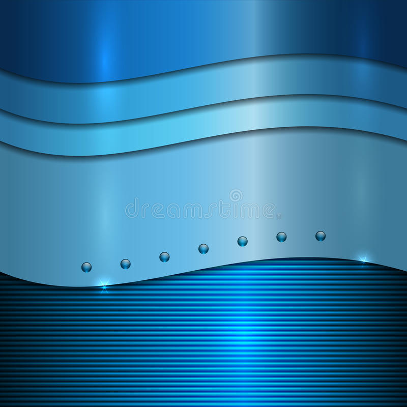 Free Vector Blue Metal Background Stock Image - 34792691
