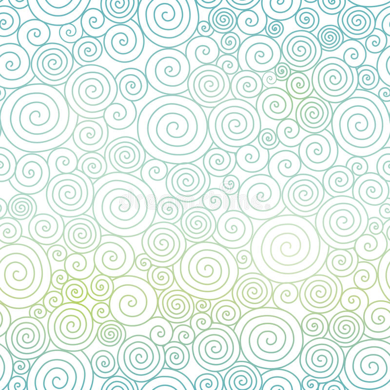 Vector Blue Pastel Gradient Abstract Swirls Texture Seamless Pattern Background. Great for elegant texture fabric, cards, wedding invitations, wallpaper vector illustration