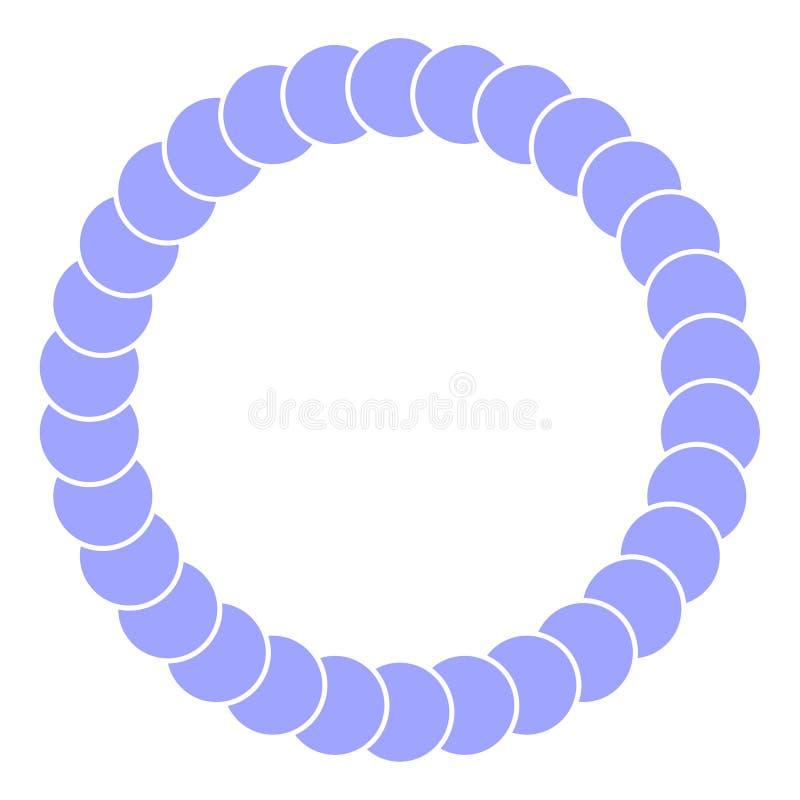 Vector blue round frame stock illustration
