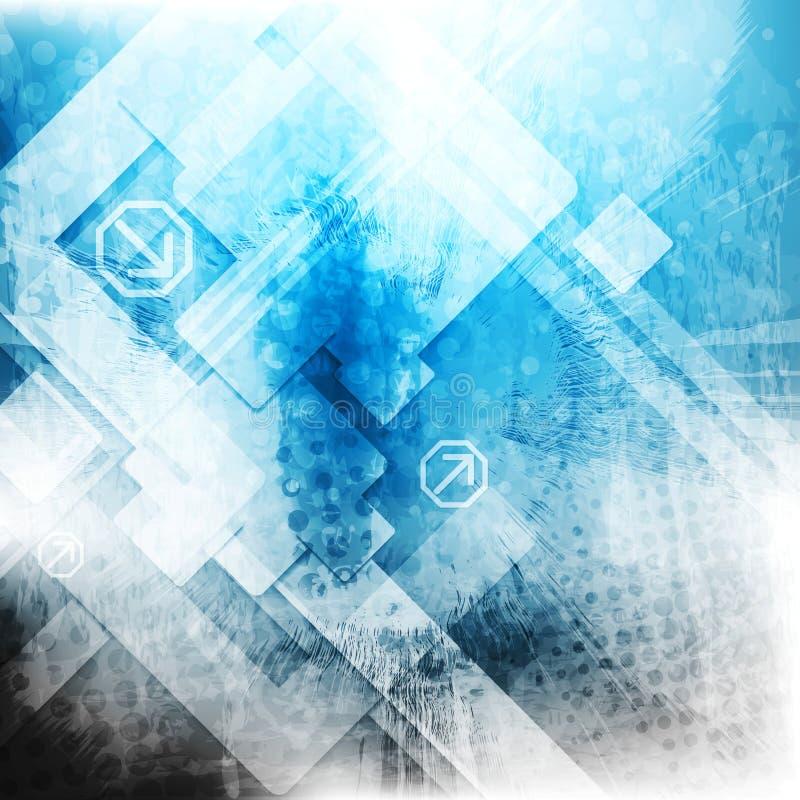 Vector Blue Tech Grunge Backdrop Stock Photography