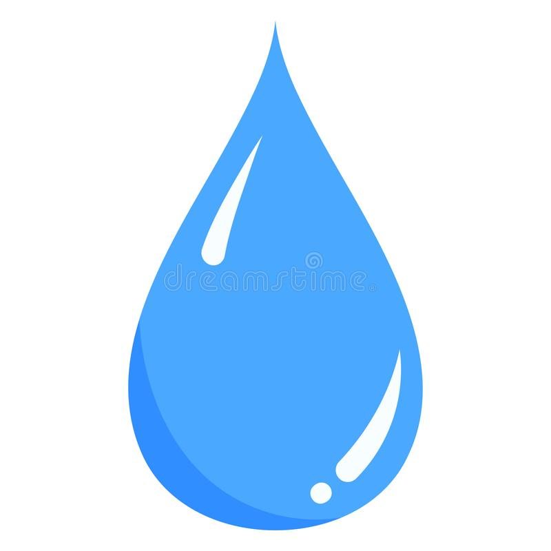 Vector blue water liquid drop icon isolated on white background. vector illustration