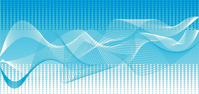 Vector blue waves background. Illustrations blue wave abstract vector background royalty free illustration