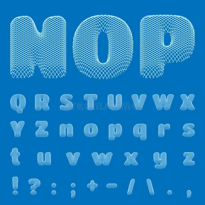Vector blueprint alphabet font part 2 stock vector download vector blueprint alphabet font part 2 stock vector illustration of design malvernweather Choice Image