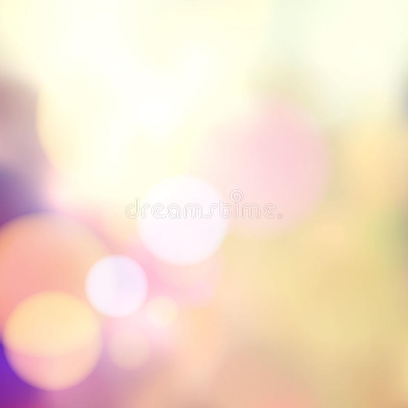 Vector blurry soft background with photographic bokeh effect. Smooth unfocused film effect. Pale romantic pink and purple tones. stock illustration