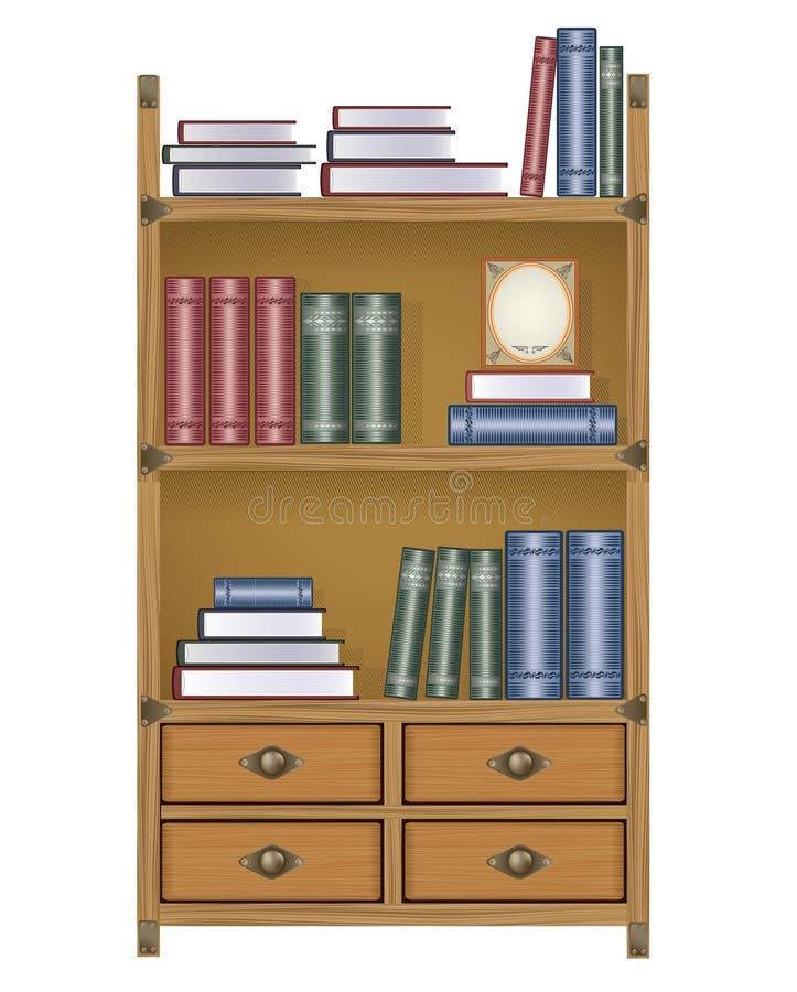 Vector boekenkast vector illustratie