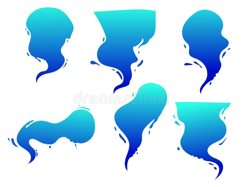 Vector a bolha dos desenhos animados, bublle com forma do respingo da água, efeito da banda desenhada da água ilustração stock