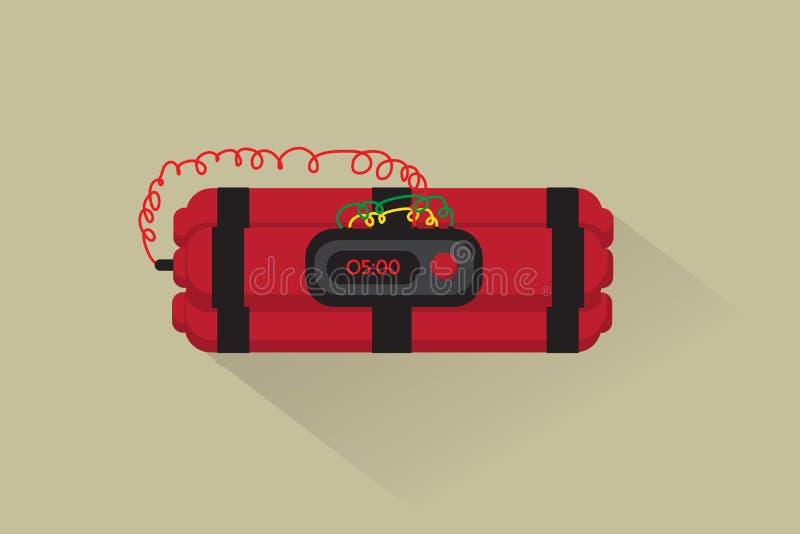 Vector: bomba de relojería plana ilustración del vector
