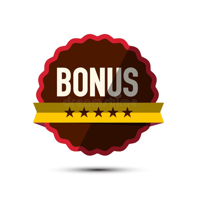 Vector Bonus Label with Five Stars Isolated royalty free illustration