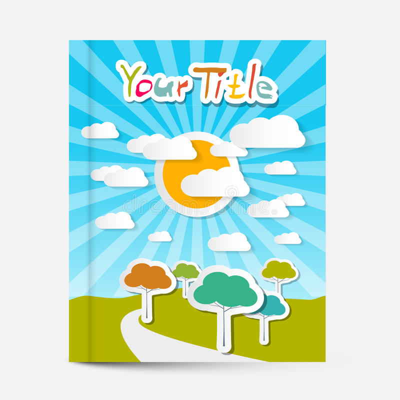 Vector Book or Flyer - Leaflet Cover Design stock illustration
