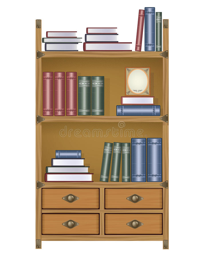 Download Vector bookcase stock vector. Illustration of grunge - 24455045