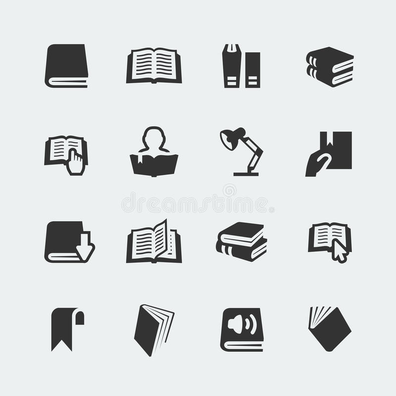 Free Vector Books And Reading Icons Set Royalty Free Stock Image - 39760106