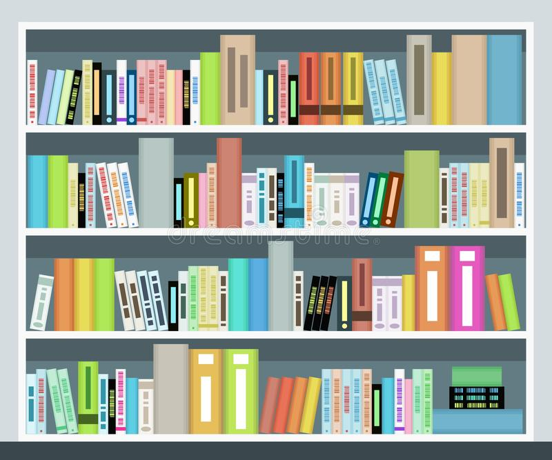 Vector book case stock illustration