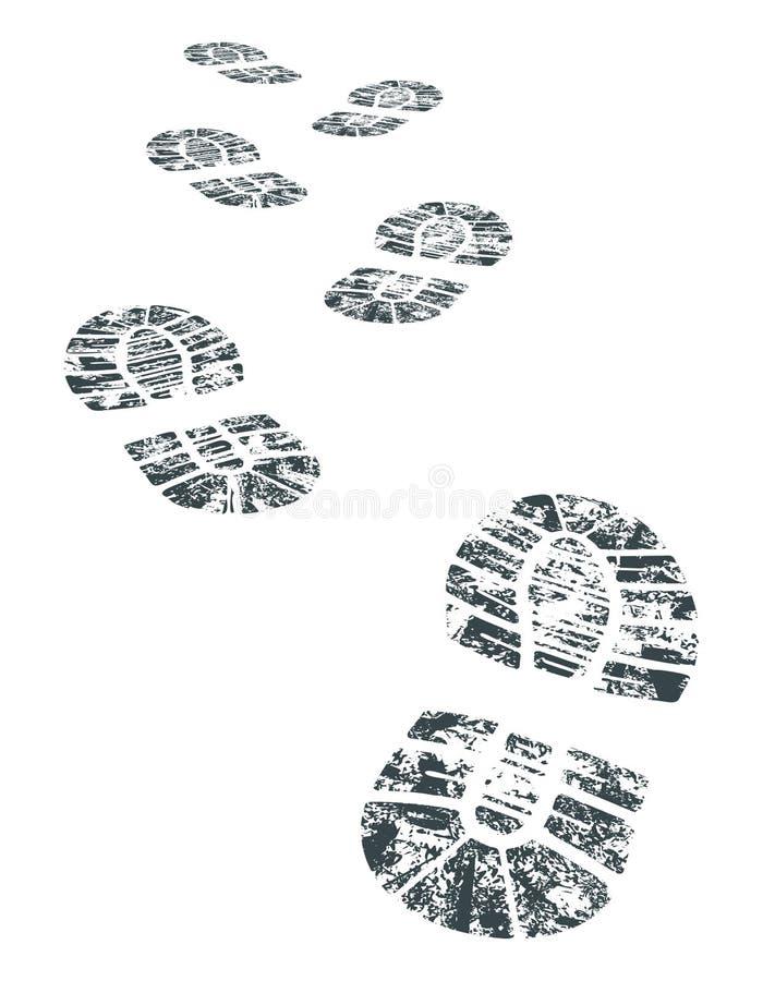 Vector bootprint royalty free illustration
