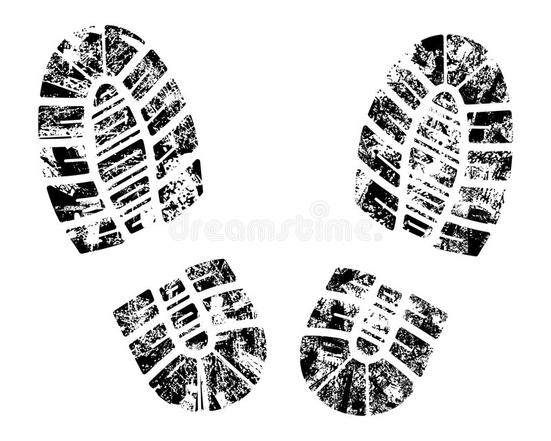 Vector bootprint stock illustration