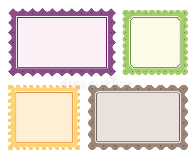 4 Vector Borders royalty free stock images