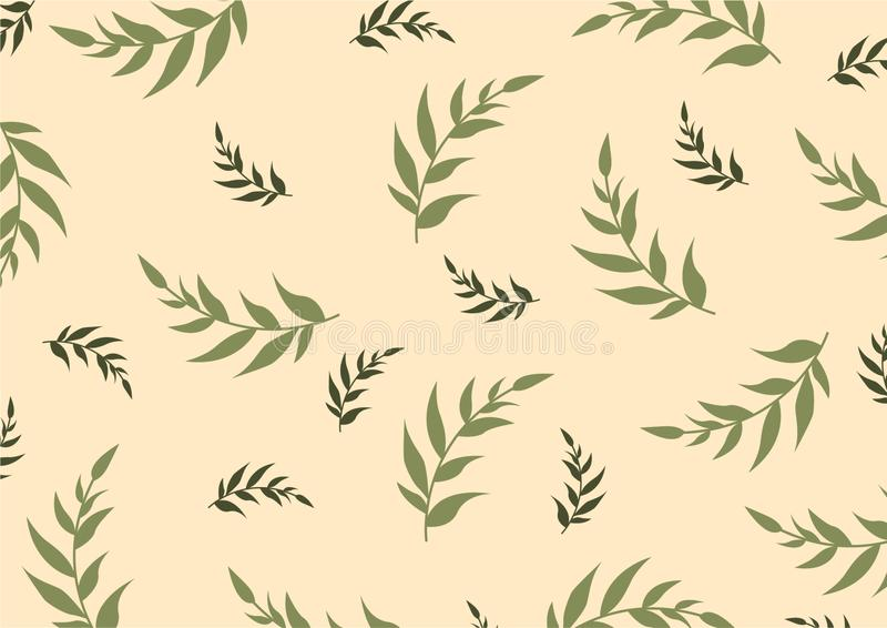 Vector botanical decorative illustration royalty free illustration
