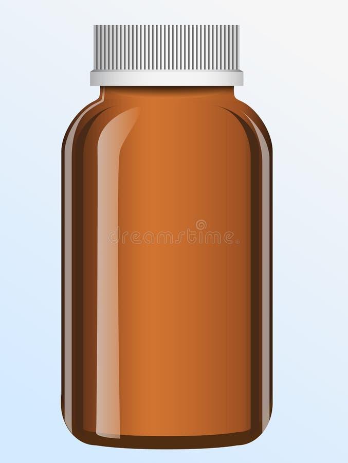 Vector bottle royalty free illustration