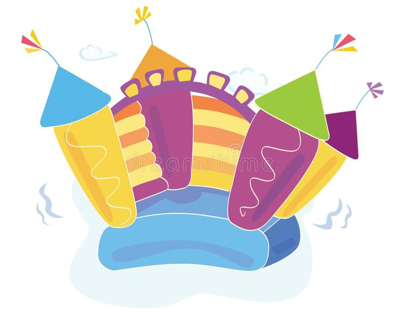 Vector bouncy castle. Vector Illustration of a bouncy castle. Easy to resize and change colors vector illustration