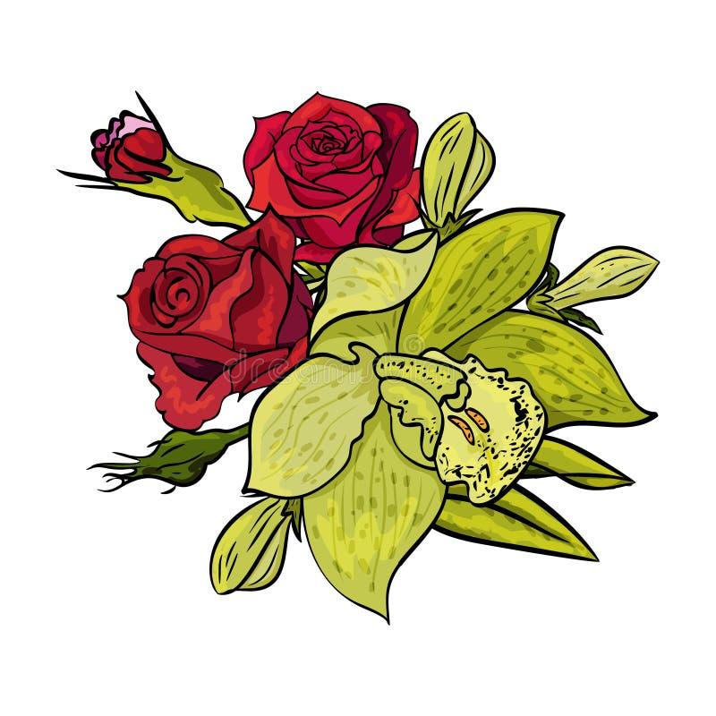 Vector bouquet of flowers stock vector. Illustration of bouquet ...