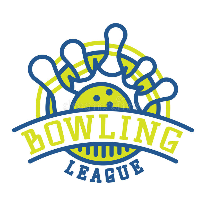 vector bowling logo emblems stock vector illustration of activity rh dreamstime com bowling logos pictures bowling logo shirts