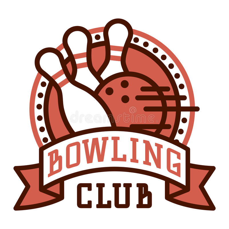 vector bowling logo emblems stock vector illustration of banner rh dreamstime com bowling logo images bowling logo image