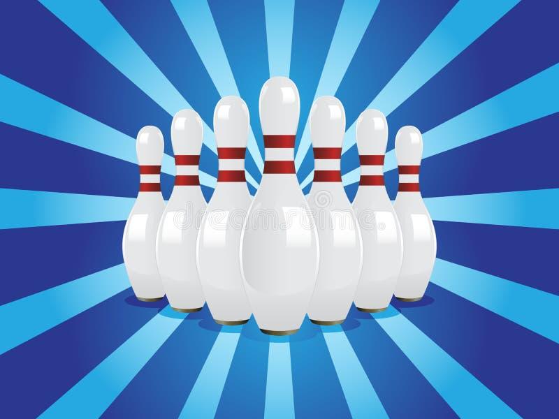 Vector bowling pins stock illustration